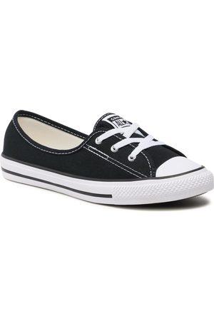 Converse Kobieta Tenisówki i Trampki - Trampki - Ctas Bellet Lace Slip 566775C Black/White/Black