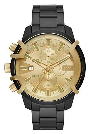 Diesel Męski chronograf zegarek kwarcowy z bransoletką ze stali szlachetnej DZ4525