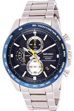 Seiko Męski zegarek kwarcowy chronograf z paskiem ze stali nierdzewnej SSB259P1