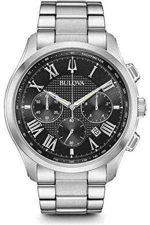 BULOVA Męski chronograf kwarcowy zegarek z bransoletką ze stali szlachetnej 96B288