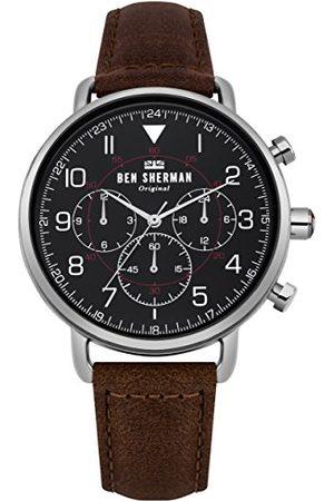 Ben Sherman WB068BBR męski multicyferblat kwarcowy zegarek ze skórzanym paskiem
