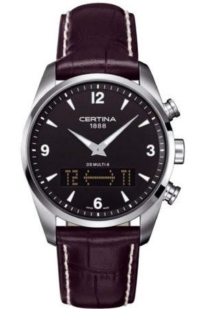 Certina Męski zegarek na rękę XL analogowy - cyfrowy kwarcowy skóra C020.419.16.057.00