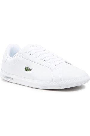 Lacoste Kobieta Sneakersy - Sneakersy - Graduate Bl 21 1 Sfa 7-41SFA004221G Wht/Wht
