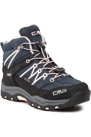CMP Dziewczynka Buty trekkingowe - Trekkingi - Kids Rigel Mid Trekking Shoe Wp 3Q12944 Asphalt/Rose