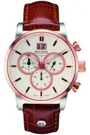 Soehnle Bruno Söhnle męski chronograf kwarcowy zegarek ze skórzaną bransoletką 17-53084-241