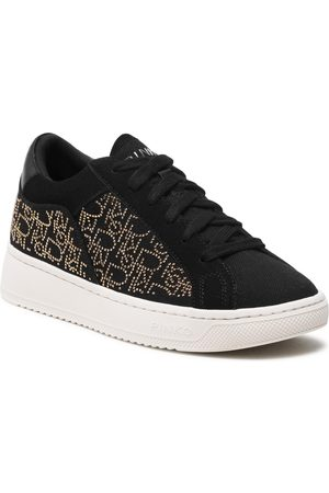 Pinko Kobieta Sneakersy - Sneakersy - Liquirizia Low Top 4 Sneaker PE 21 BLKS 1H20UU Y73B Nero/Oro ZH2