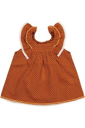 Caramel Baby Mulloway polka-dot cotton dress
