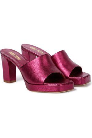 PARIS TEXAS Exclusive to Mytheresa – Milena leather platform sandals