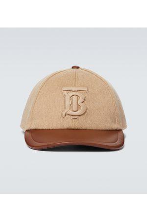Burberry Monogrammed cashmere baseball cap