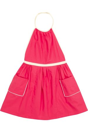 Caramel Pelican cotton pinafore dress