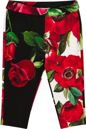 Dolce & Gabbana Baby stretch-cotton floral leggings