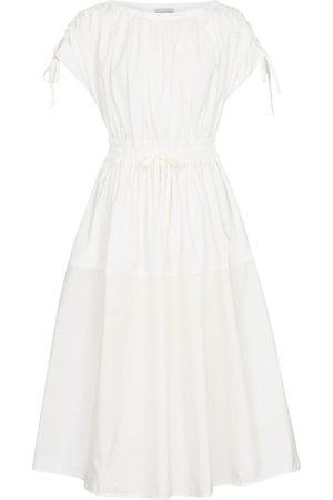 Moncler Cotton gabardine and nylon midi dress