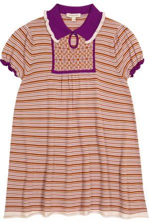 Caramel Dziewczynka Sukienki - Narwhale striped merino wool dress