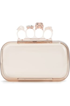 Alexander McQueen Four Ring embellished PVC clutch
