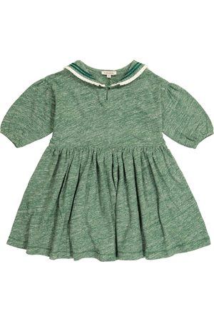 Caramel Dziewczynka Sukienki - Vaquita cotton and linen dress