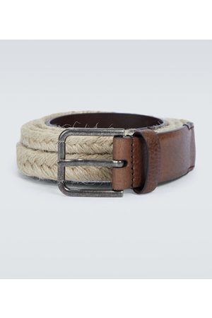 Dolce & Gabbana Paski - Jute and leather belt
