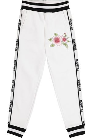 MONNALISA Logo cotton-blend sweatpants