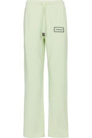 OFF-WHITE Logo cotton sweatpants