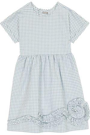 Il gufo Gingham cotton-blend dress