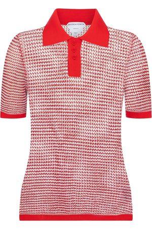 Bottega Veneta Cotton-blend knit polo shirt