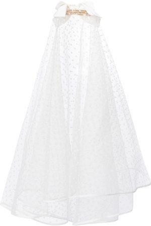 Erdem Bridal embellished polka-dot tulle veil