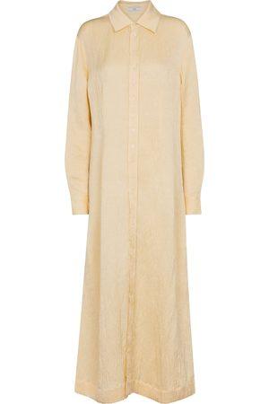 CO Linen-blend maxi shirt dress