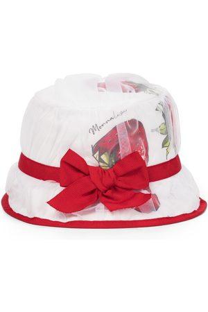 MONNALISA Strawberry cotton poplin hat