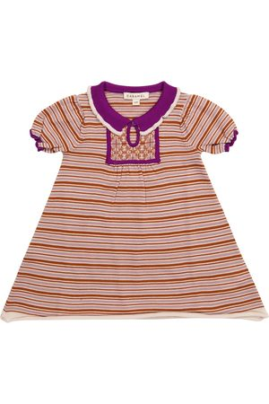 Caramel Baby Narwhale striped wool dress