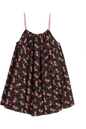 Caramel Dziewczynka Sukienki z nadrukiem - Cone Fish floral cotton dress