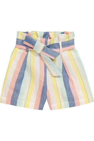 BONPOINT Nath striped linen and cotton shorts