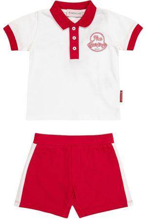 Moncler Baby polo shirt and shorts set