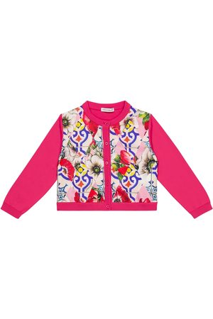 Dolce & Gabbana Baby printed cotton and silk cardigan