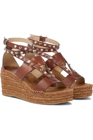 Jimmy Choo Danica studded wedge espadrilles