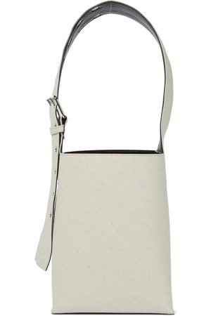Jil Sander Leather-trimmed canvas bucket bag