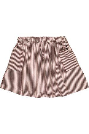Caramel Dziewczynka Spódnice - Cormoran striped cotton poplin skirt