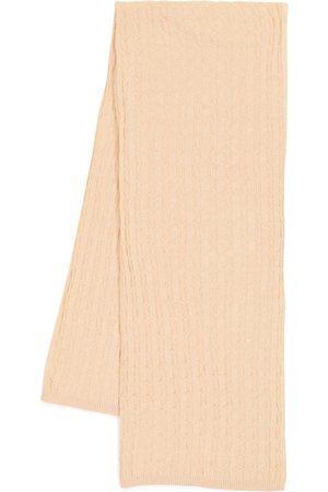 Totême Cable-knit cashmere scarf