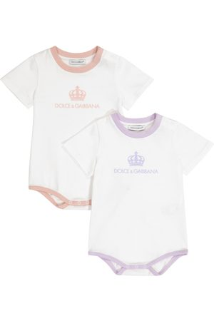 Dolce & Gabbana Baby set of 2 cotton playsuits