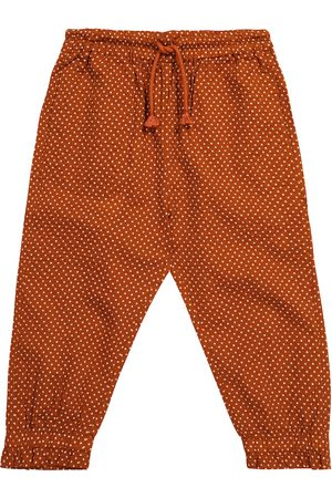 Caramel Shrimp polka-dot cotton pants