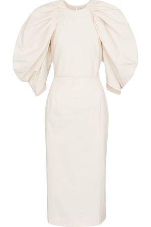 Deveaux New York Sasha cotton poplin midi dress
