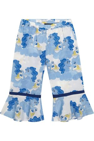 Mini Rodini Unicorn Noodles printed cotton pants