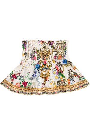 Camilla Floral cotton jersey skirt