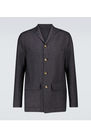 LARDINI Kurtki - Elleon linen jacket