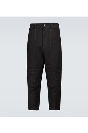 Junya Watanabe Spodnie - Dyed linen-blend pants