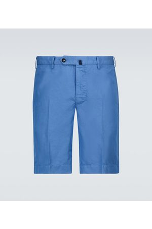 Incotex Cotton and linen-blend shorts