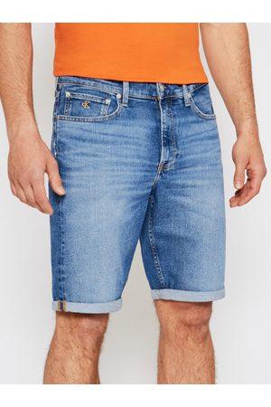 Calvin Klein Mężczyzna Straight - Szorty jeansowe J30J317748 Regular Fit