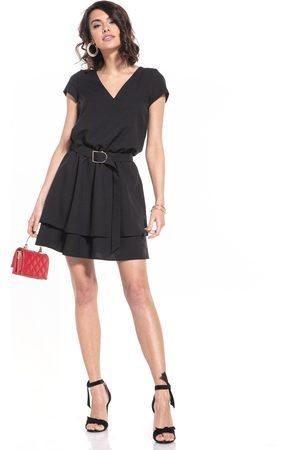 Tessita Elegancka sukienka w szpic - czarna