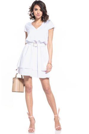Tessita Kobieta Sukienki koktajlowe i wieczorowe - Elegancka sukienka w szpic - biała