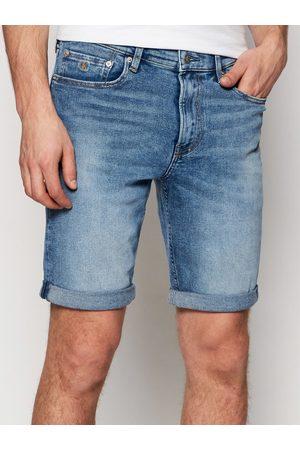 Calvin Klein Szorty jeansowe J30J317739 Granatowy Slim Fit