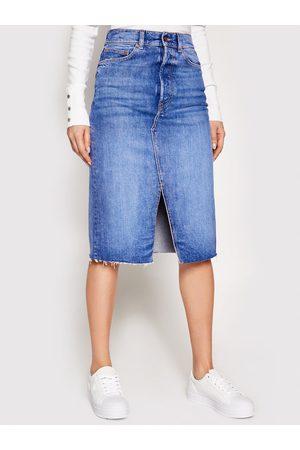 Guess Kobieta Spódnice jeansowe - Spódnica jeansowa W1RD96 D4AM1 Regular Fit