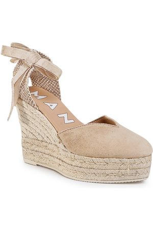 MANEBI Espadryle Heart Shape Wedges M 1.1 WH